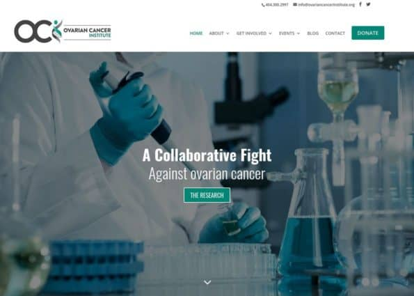 The Ovarian Cancer Institute on Divi Gallery