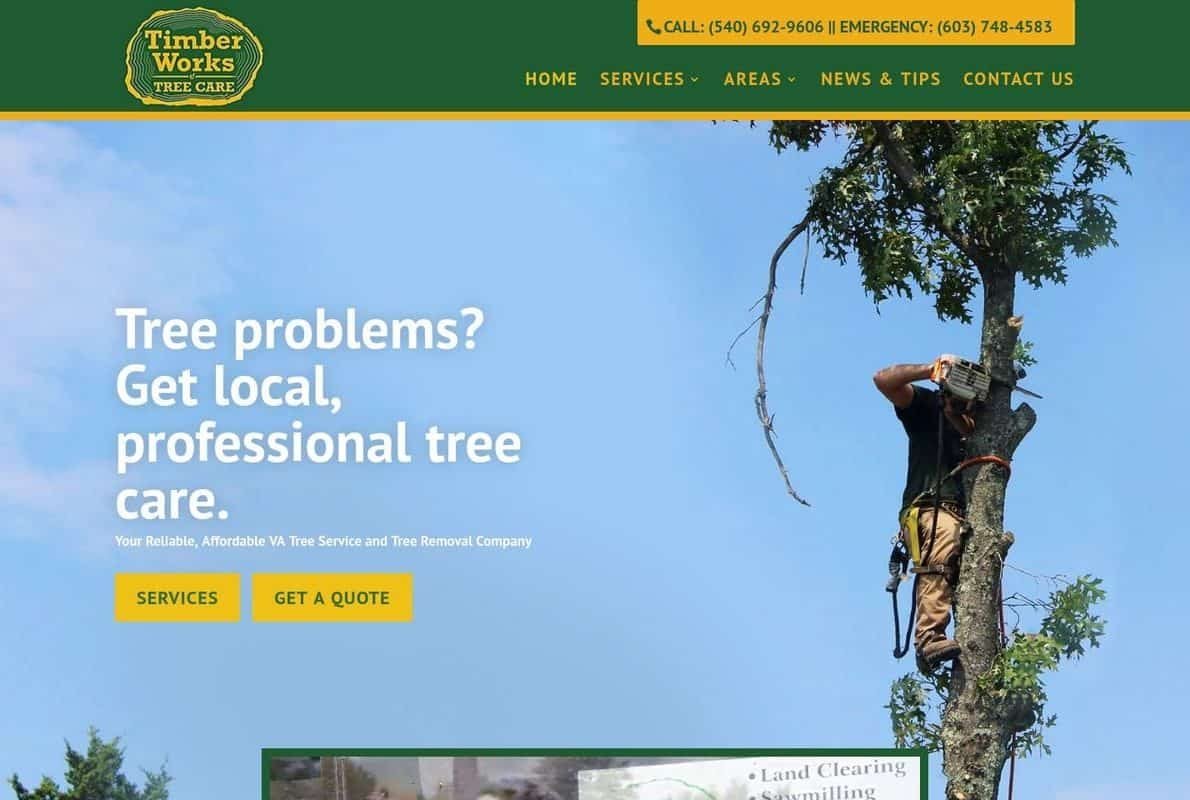 Timber Works Tree Care Divi Theme Example