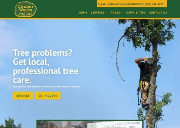 Timber Works Tree Care on Divi Gallery