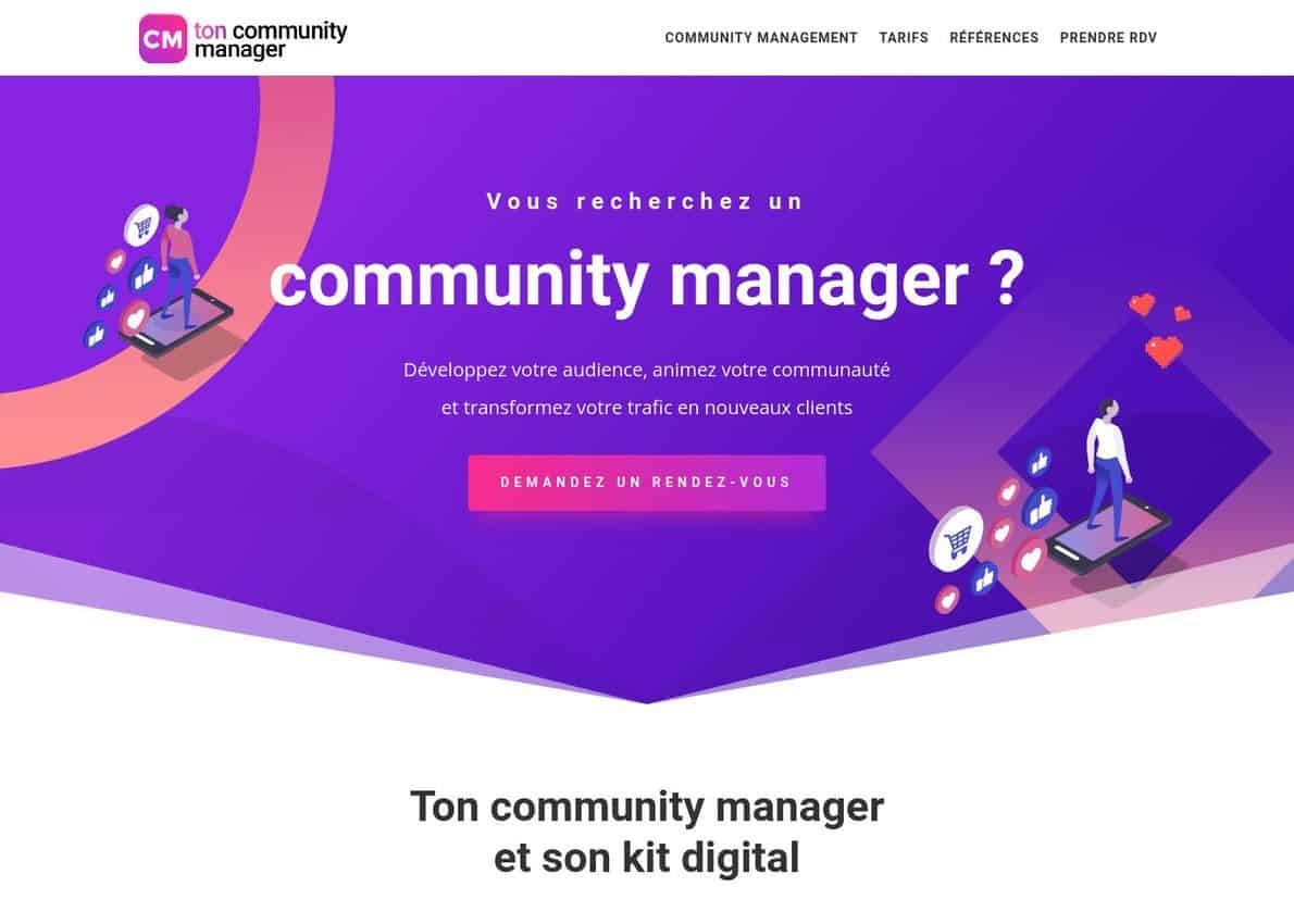 Ton Community Manager Divi Theme Example