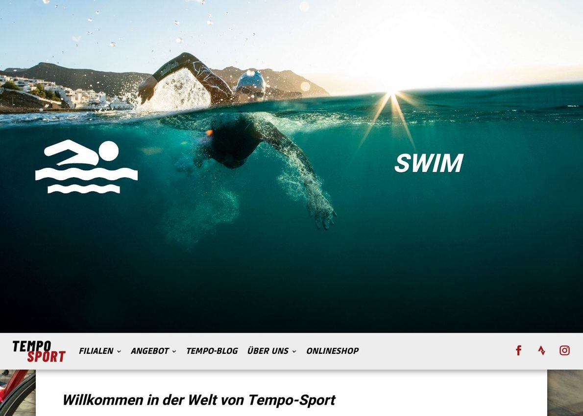 Triathlon Store Divi Theme Example