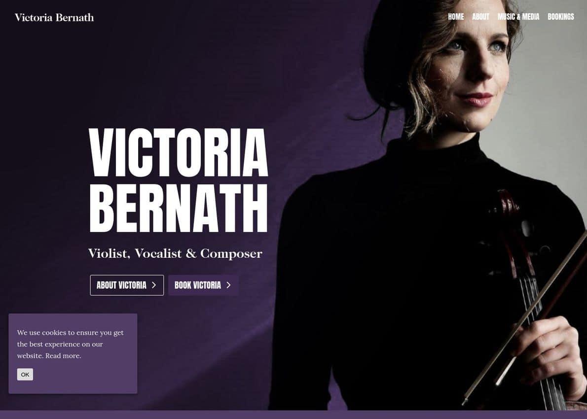 Victoria Bernath Violist, Vocalist & Composer Divi Theme Example