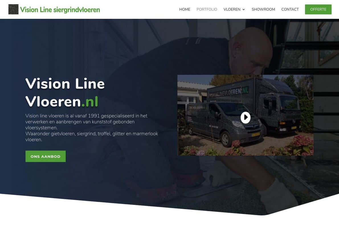 Visionlinevloeren Divi Theme Example