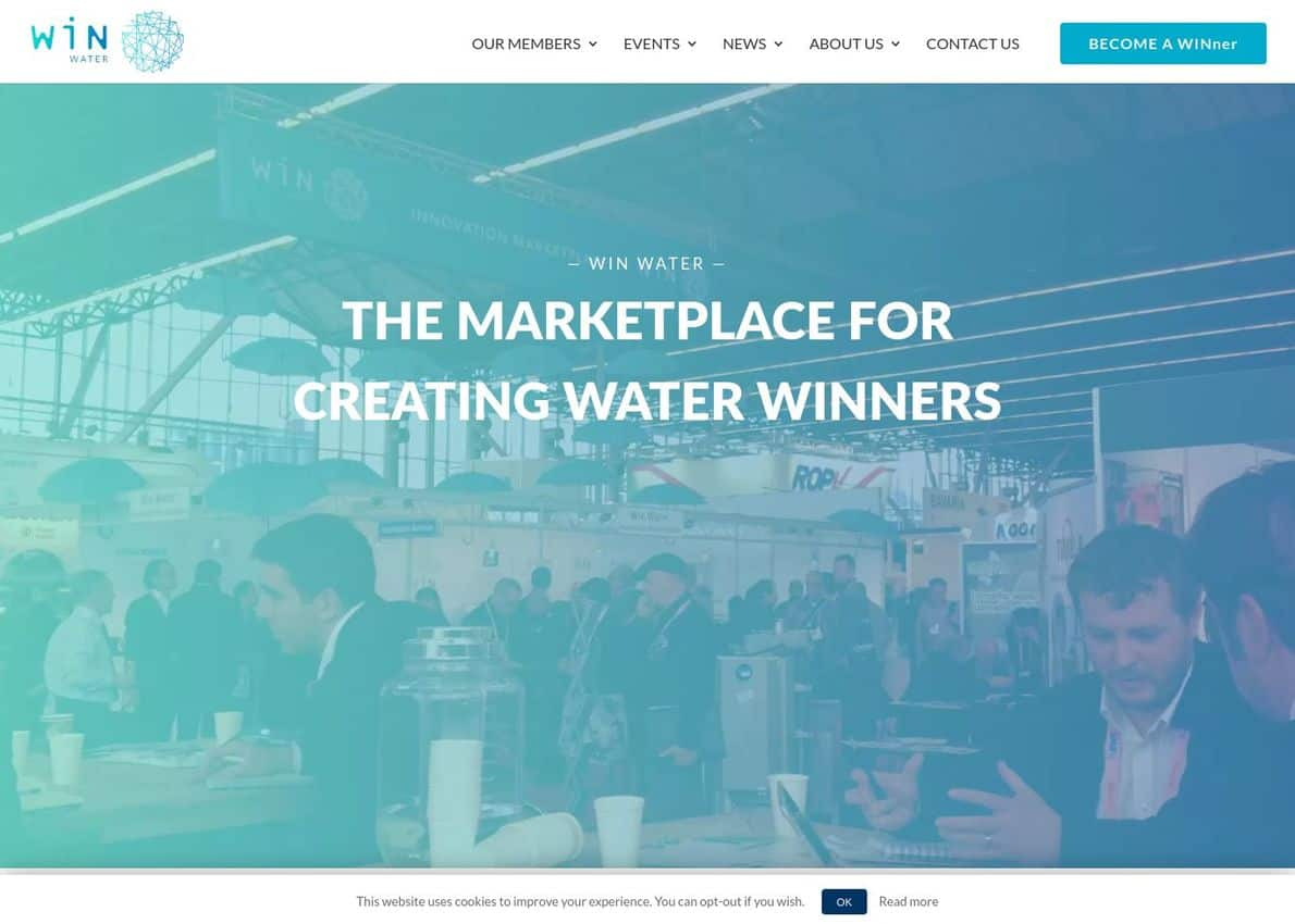 WIN Water Divi Theme Example