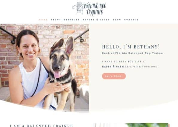 Walking Dog Training on Divi Gallery