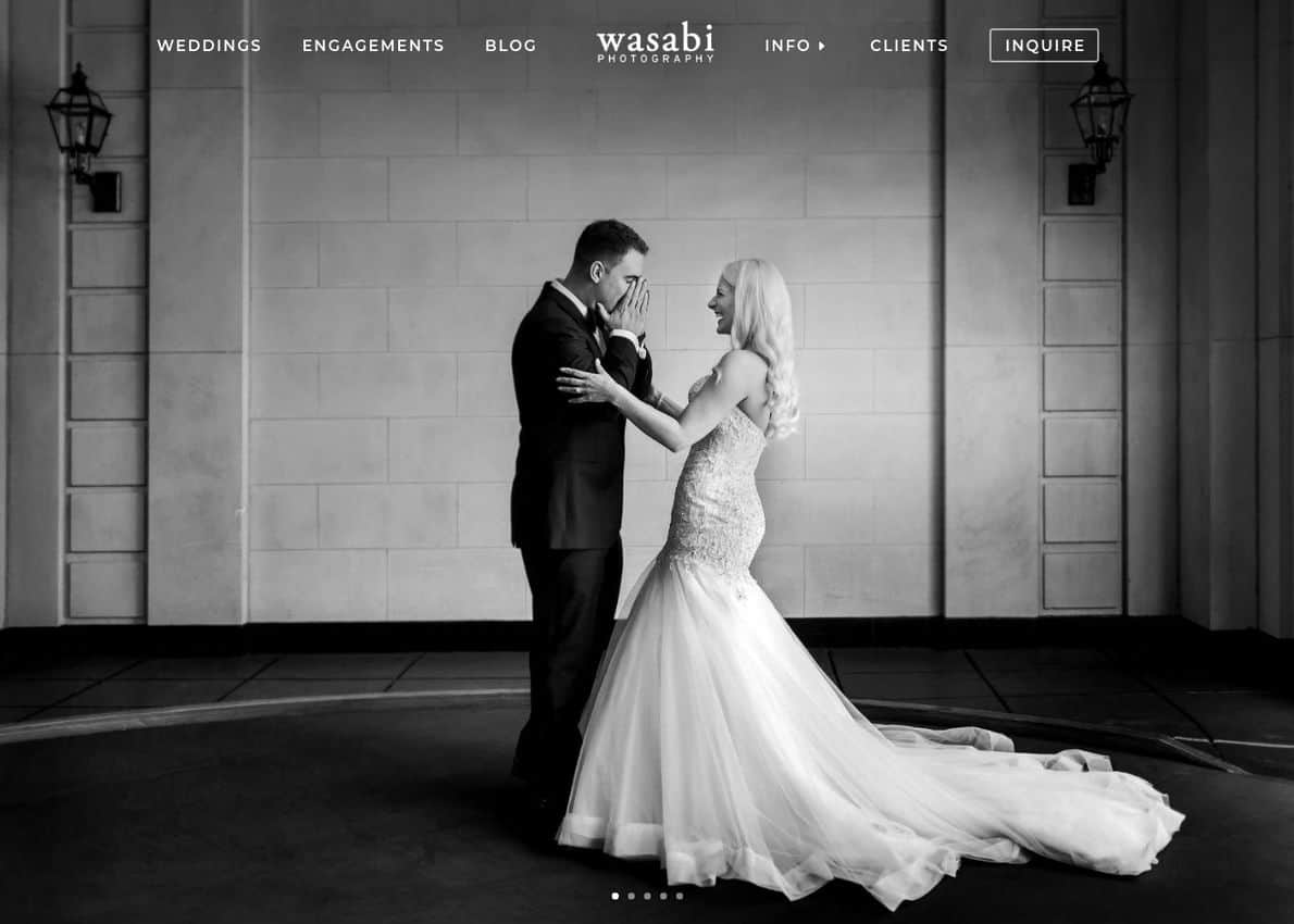 Wasabi Photography Divi Theme Example