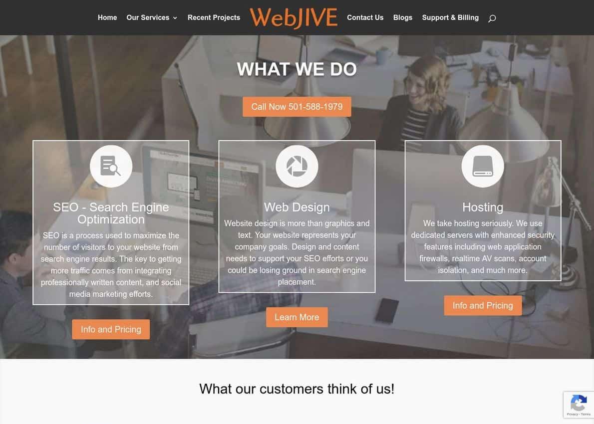 WebJIVE Divi Theme Example