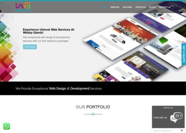 Webby Giants on Divi Gallery