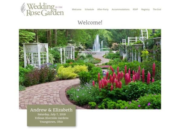 Wedding in the Rose Garden on Divi Gallery