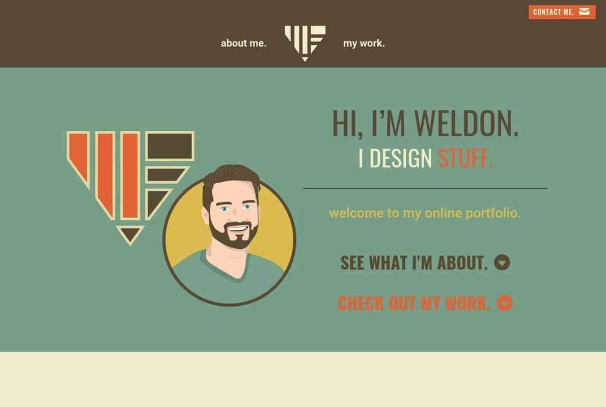 Weldon Fultz Online Portfolio Divi Theme Example