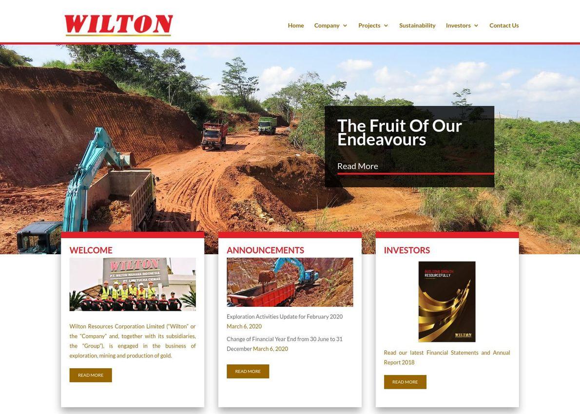 Wilton Resources Divi Theme Example