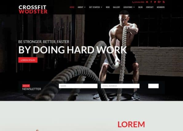 Wodster Fitness Theme on Divi Gallery