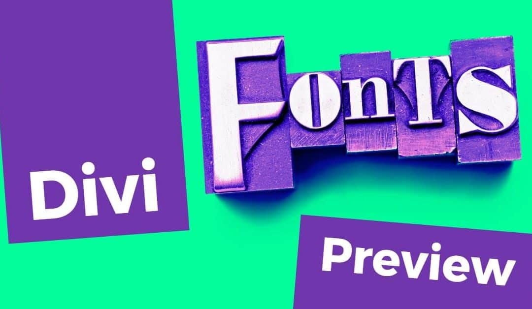 17 Best Divi Fonts (with Previews)