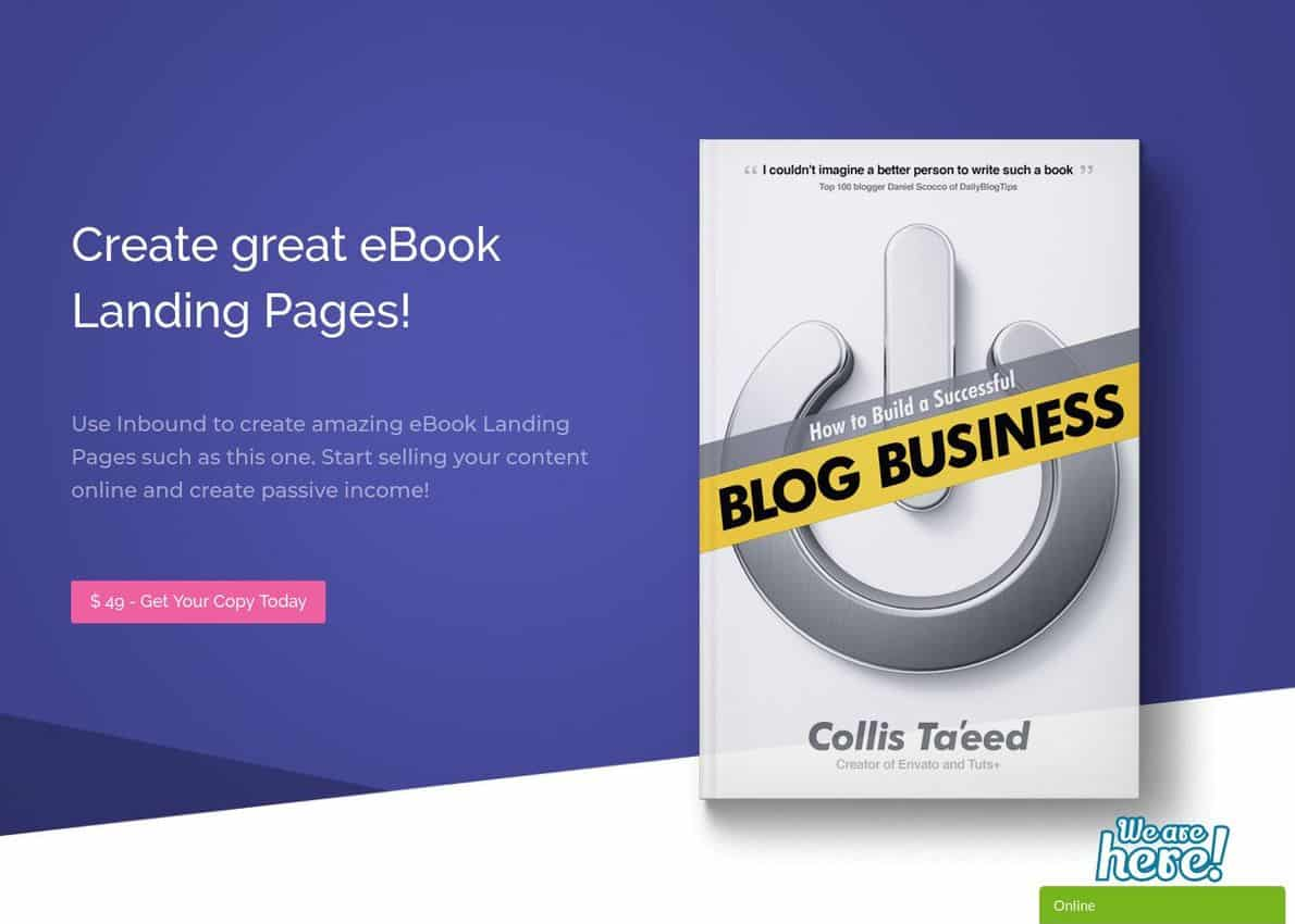 eBook Divi Layout Divi Theme Example