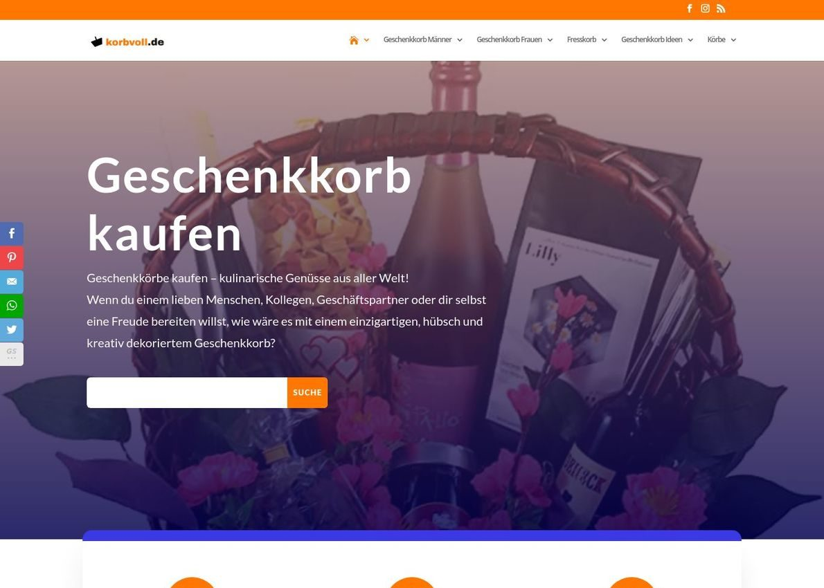 korbvoll.de Divi Theme Example