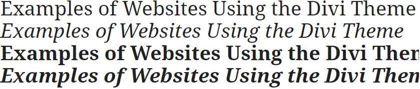 Noto Serif Divi Font
