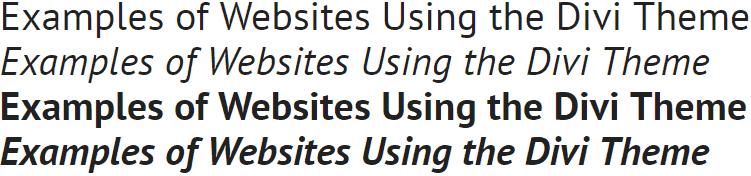 PT Sans Divi Font