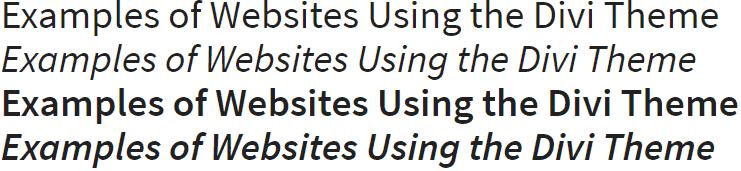 Source Sans Pro Divi Font