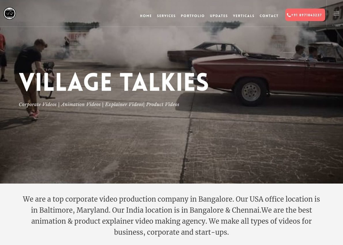 villagetalkies Divi Theme Example