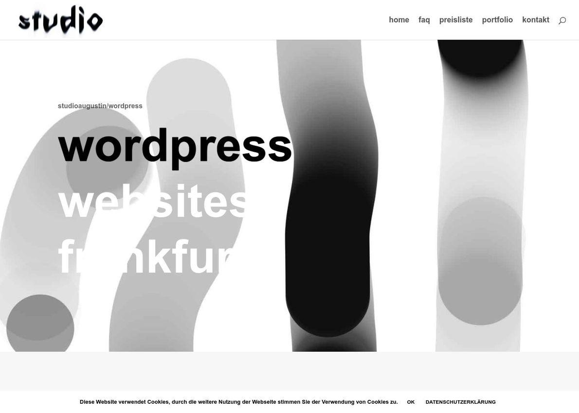 wordpress websites frankfurt Divi Theme Example